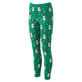 Juniors' It's Our Time Graphic Holiday Leggings