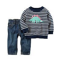 Baby Boy Carter's 2-pc. Dinosaur Sweater & Pants Set