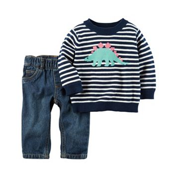 Baby Boy Carter's 2-pc. Dinosaur Sweater & Pants Set