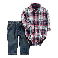 Baby Boy Carter's Plaid Bodysuit & Jeans Set
