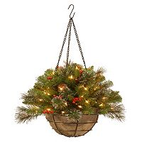 National Tree Company 20 in. Artificial Crestwood Spruce Hanging Basket