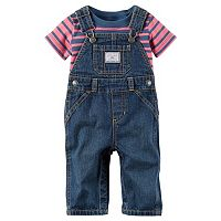 Baby Boy Carter's Stripe Tee & Denim Overalls Set