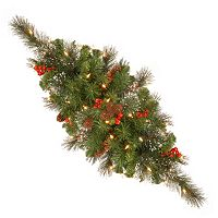 National Tree Company 30 in. Artificial Crestwood Spruce Centerpiece