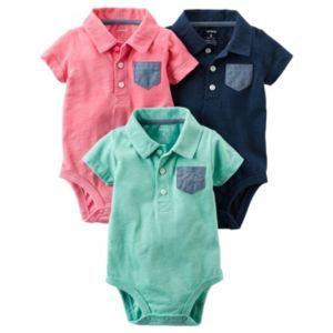 Baby Boy Carter's 3-pk. Polo Graphic Bodysuits