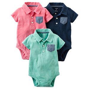 Baby Boy Carter's 3-pk. Polo Graphic Bodysuits