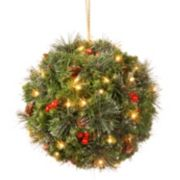 National Tree Company 12 in. Artificial Crestwood Spruce Kissing Ball