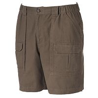 Big & Tall Croft & Barrow® Side Elastic Cargo Shorts