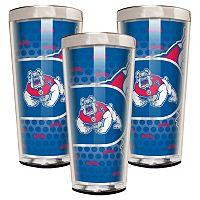 Fresno State Bulldogs 3 pc Shot Glass Set