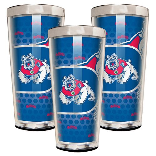 Fresno State Bulldogs 3-Piece Shot Glass Set