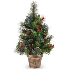 National Tree Company 2-ft. Pre-Lit Artificial Crestwood Spruce Christmas Tree