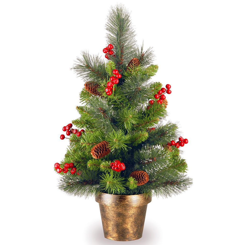 National Tree Company 2 ft. Artificial Crestwood Spruce Christmas Tree
