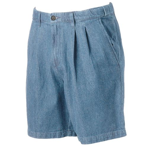 Big & Tall Croft & Barrow® Classic-Fit Denim Flex-Waist Shorts