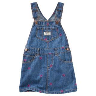 Baby Girl OshKosh B'gosh® Embroidered Heart Denim Jumper
