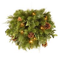 National Tree Company 20 in. Artificial Juniper Mix Pine Kissing Ball