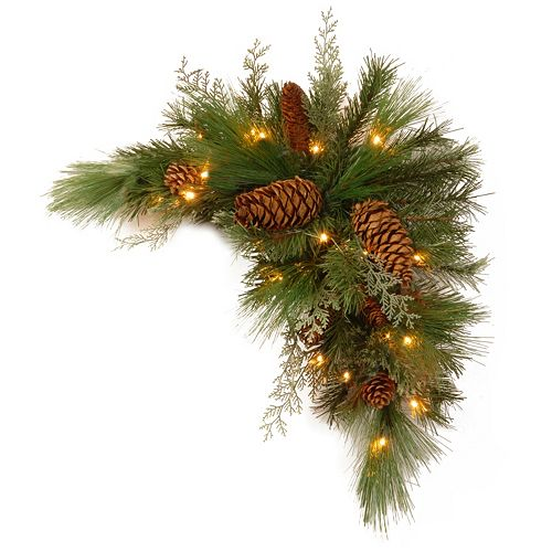 National Tree Company 30 in. Artificial White Pine Corner Swag