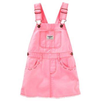 Baby Girl OshKosh B'gosh® Frayed Twill Jumper