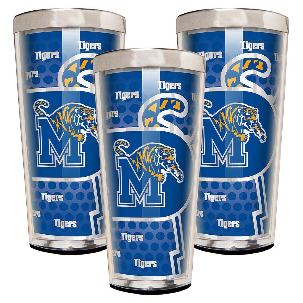Memphis Tigers 3-Piece Shot Glass Set