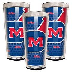 Ole Miss Rebels 3-Piece Shot Glass Set