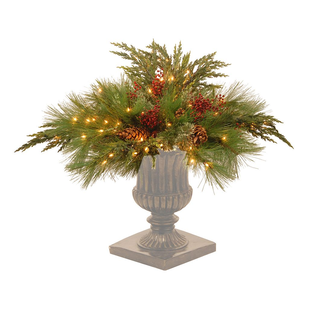 National Tree Company 30 in. Artificial White Pine Urn Filler
