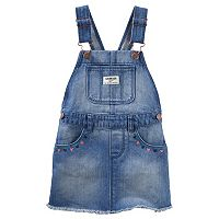 Baby Girl OshKosh B'gosh® Frayed Denim Jumper