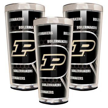 Purdue Boilermakers 3-Piece Shot Glass Set