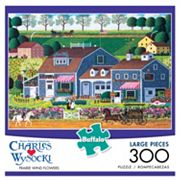 Buffalo Games 300 pc Charles Wysocki Prairie Wind Flowers Puzzle