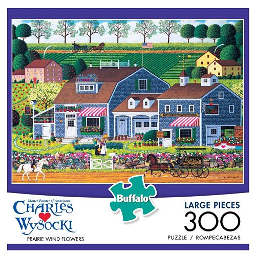 Buffalo Games 300-pc. Charles Wysocki Prairie Wind Flowers Puzzle
