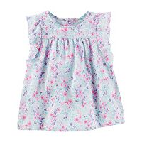Toddler Girl OshKosh B'gosh® Floral Ruffle Woven Top