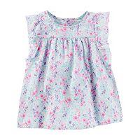 Toddler Girl OshKosh B'gosh® Floral Ruffle Woven Top