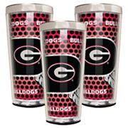 Georgia Bulldogs 3 pc Shot Glass Set