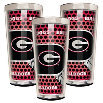 Georgia Bulldogs 3-Piece Shot Glass Set