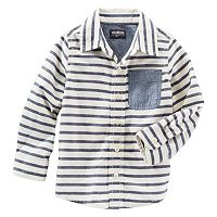 Toddler Boys OshKosh B'gosh® Striped Button-Front Shirt