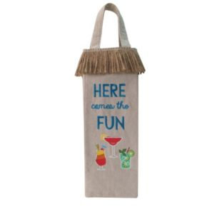 """Celebrate Summer Together """"Here Comes The Fun"""" Wine Bag"""