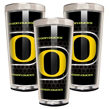 Oregon Ducks 3-Piece Shot Glass Set