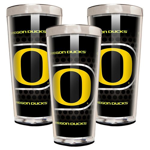 Oregon Ducks 3-Piece Shot Glass Set