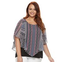 Plus Size AB Studio Printed Popover Top