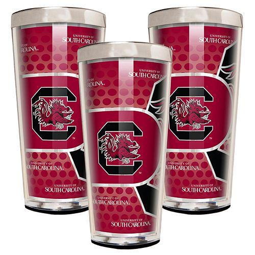 South Carolina Gamecocks 3-Piece Shot Glass Set