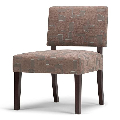 Simpli Home Virginia Patterned Accent Chair