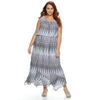 Plus Size AB Studio Chevron Maxi Dress