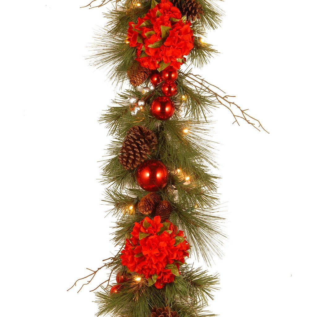 National Tree Company 9 ft. Artificial Hydrangea Garland