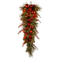 National Tree Company 36 in. Artificial Christmas Red Mixed Teardrop