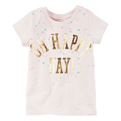 Girls 4-8 Carter's Short Sleeve 'Oh Happy Day' Foil Graphic Tee