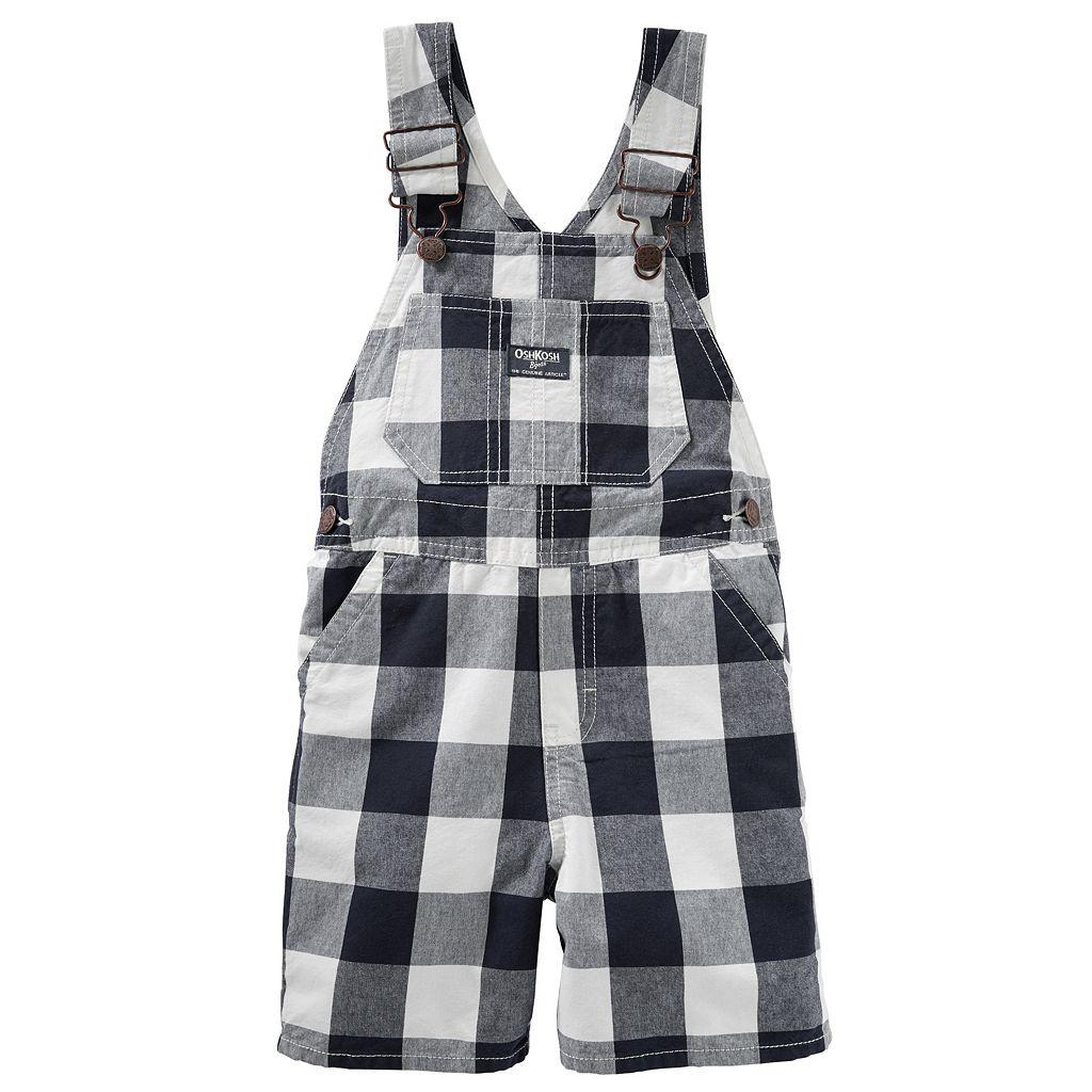 Toddler Boy OshKosh B'gosh® Checked Shortalls