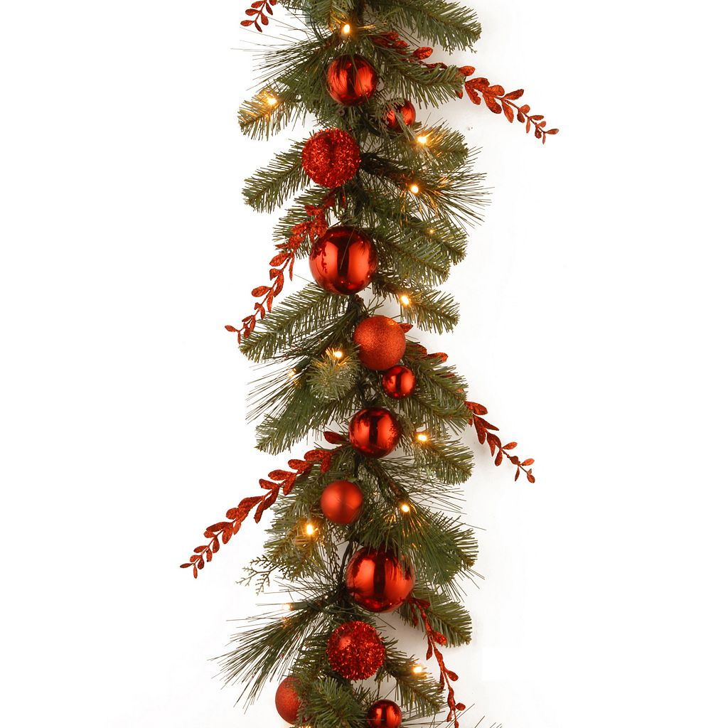 National Tree Company 9 ft. Artificial Christmas Red Mixed Garland
