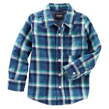 Boys 4-8 OshKosh B'gosh® Flannel Plaid Button-Front Shirt