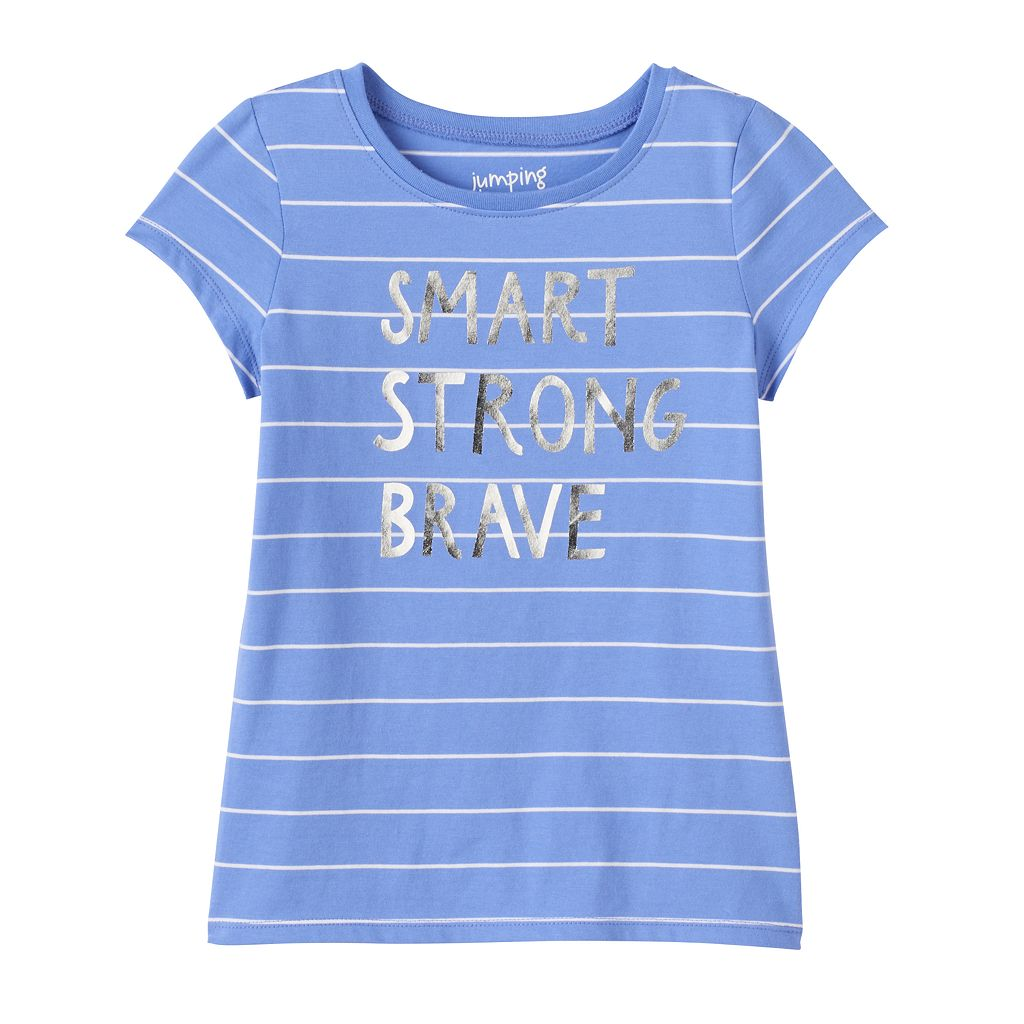Girls 4-10 Jumping Beans® Striped Graphic Tee
