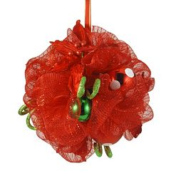 National Tree Company 12 in Ribbon Kissing Ball Wall Decor