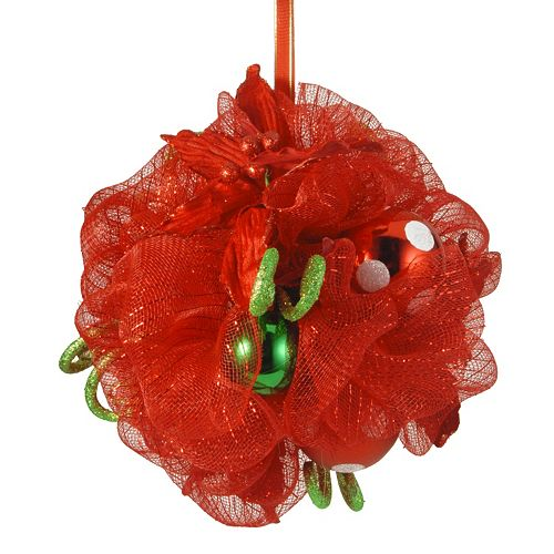 National Tree Company 12-in. Ribbon Kissing Ball Wall Decor