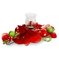 National Tree Company Ribbon & Glass Ball Candle Holder