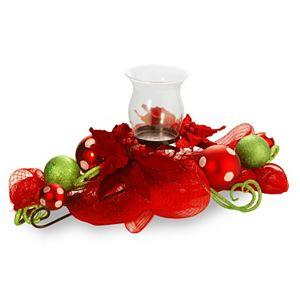 National Tree Company Ribbon & Glass Ball Candle Holder